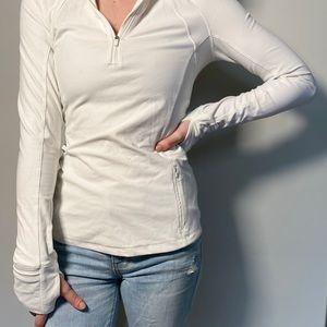 White lululemon quarter zip pullover